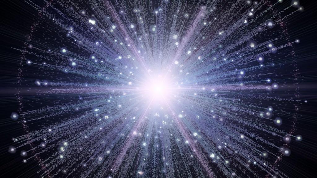 In realtà definire il Big Bang come un'esplosione ha poco senso: infatti non esisteva lo spazio fuori di esso.