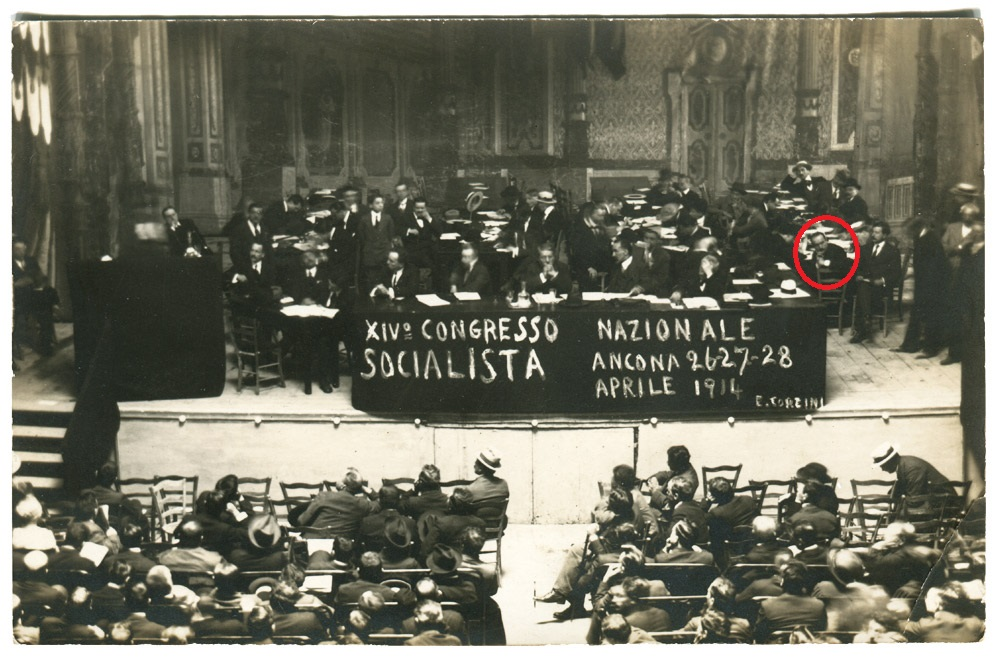 Il XIV Congresso socialista di Ancona, tra i relatori Benito Mussolini