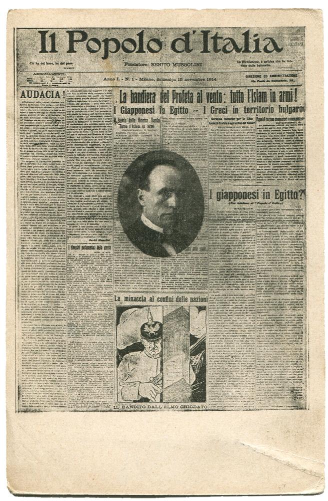 """Mussolini direttore de """"Il Popolo d'Italia"""", 1914"""