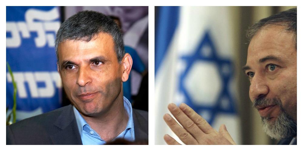 A sinistra Moshe Khalon, a destra Avigdor Lieberman