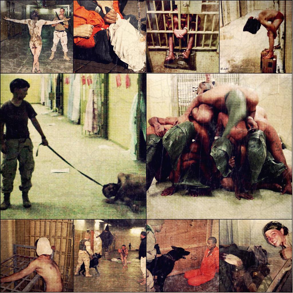 Le immagini tristemente note del carcere di Abu Grahib