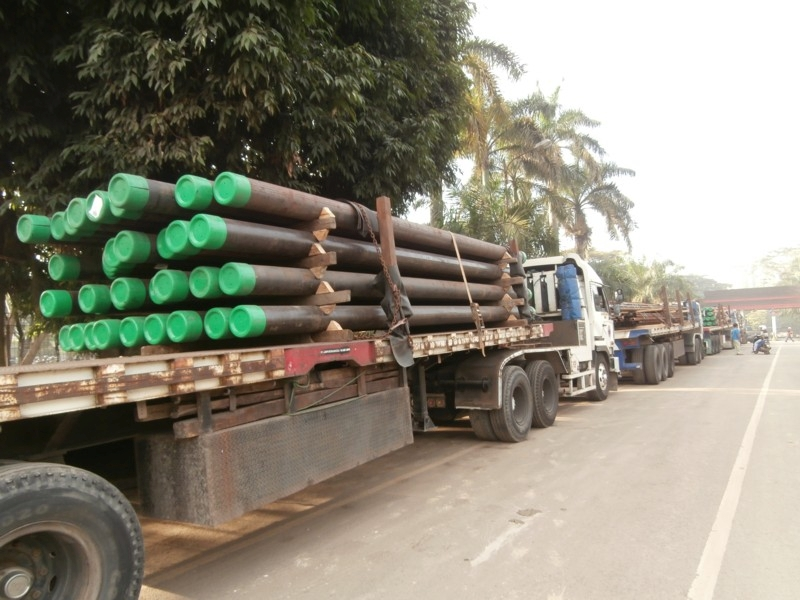 Tenaris pipe arriving at our welding yard in Indonesia