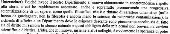 estratto lettera dip filosofia
