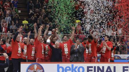 MILANO 21 Febbraio 2016 Lega Basket Final Eight Coppa Italia Finale Sidigas Scandone Avellino - Olimpia EA7 Emporio Armani Milano NELLA FOTO Olimpia EA7 Emporio Armani Milano FOTO CIAMILLO