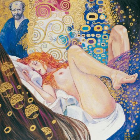 Milo-MANARA-Il-pittore-e-la-Modella-reinterpretazione-di-Gustav-Klimt-by-Catherine-La-Rose
