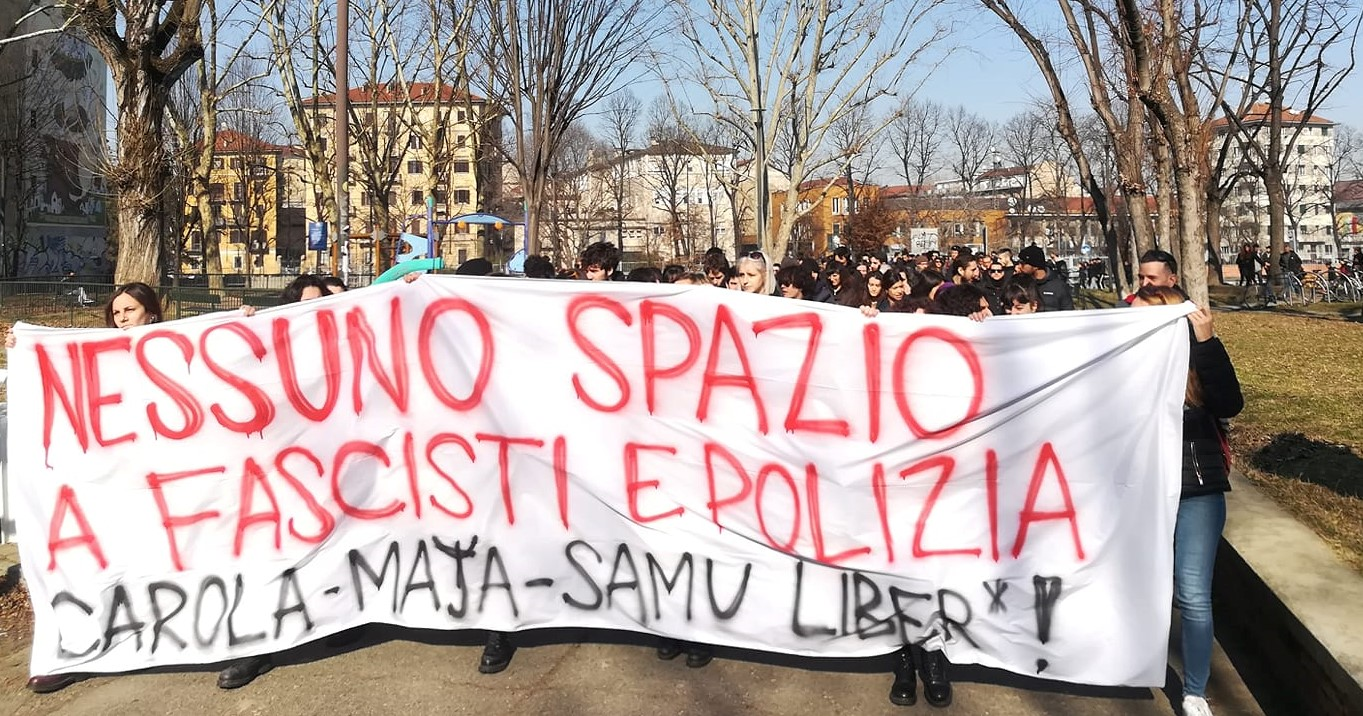 Torino e Milano contro il fascismo in università (foto di Si Studenti Indipendenti)